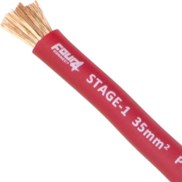 punainen 35 mm2 virtakaapeli läheltä