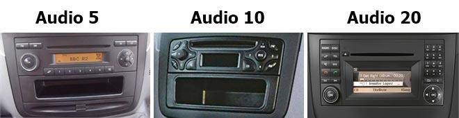 mercedes audio 5, 10 vai 20