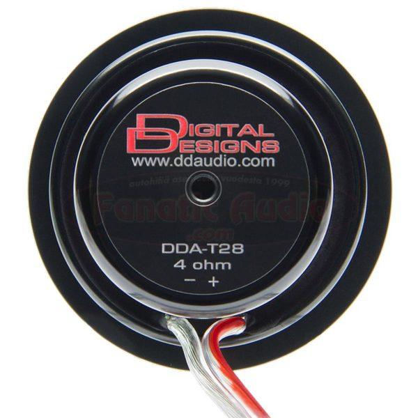 DD Audio AT28 diskanttielementti takaa.