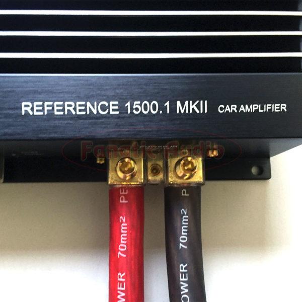 Autostudio REF1500.1 mkII monovahvistin liittimet