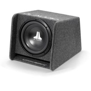 JL Audio CP112-W0v3 valmiskoteloitu 12″ subwoofer edestä