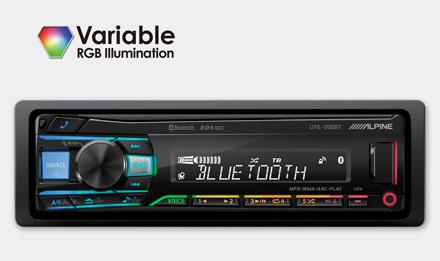 Alpine UTE-200BT RGB-värit