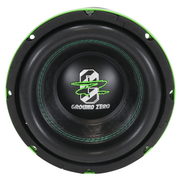 Ground Zero GZHW 20SPL GREEN subwoofer edestä