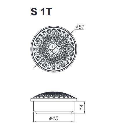 Helix S 62C erillissarjan diskantin mitat.
