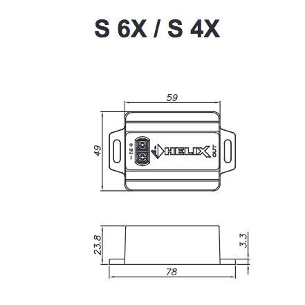 Helix S 42C erillissarjan suotimen mitat.