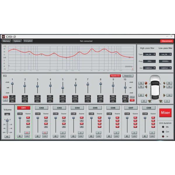 DD Audio DSI-2 DSP säätö ohjelma