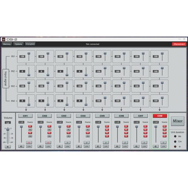 DD Audio DSI-2 DSP säätö