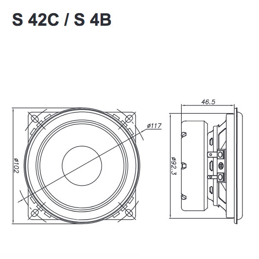 Helix S 42C erillissarjan midin mitat.