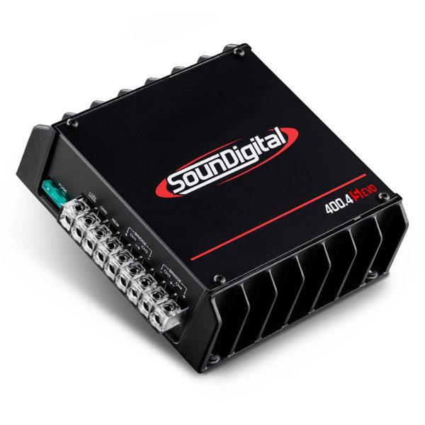 Soundigital SD400.4S EVO 4 kanavainen vahvistin liittimet