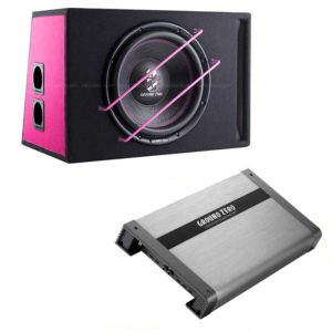 Ground Zero 400SPL bassopaketti titanium pink