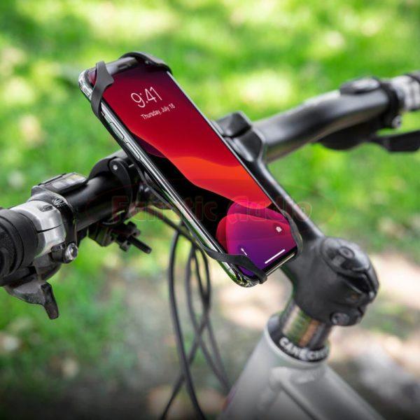 tukeva puhelinteline maastopyörään